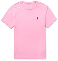 Polo Ralph Lauren Slim Fit Cotton Jersey T Shirt Pink