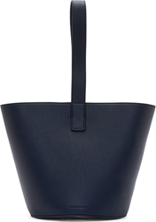 J.W.Anderson Navy Grained Leather Bucket Bag