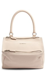 Givenchy 'Small Pandora' Leather Satchel Pink Nude Pink