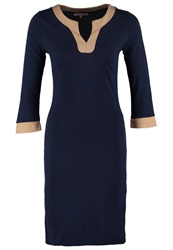 Anna Field Shift Dress Navy Camel Dark Blue