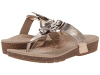 Aetrex Emily Rose Adjustable Thong Gold Women's Sandals