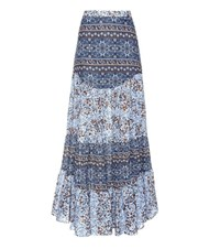 See By Chloe Printed Cotton Maxi Skirt Blue