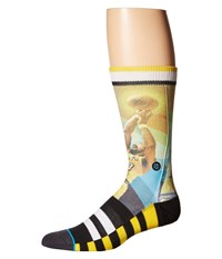 Stance Wilt Trading Card Yellow Men's Crew Cut Socks Shoes