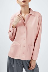 Boutique Leather Shirt Jacket By Pale Pink