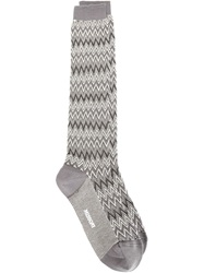 Missoni Zig Zag Knit Socks Grey