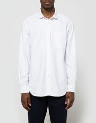 Engineered Garments Rounded Collar Shirt White