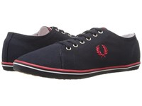 Fred Perry Kingston Twill Navy Red White Men's Lace Up Casual Shoes Blue