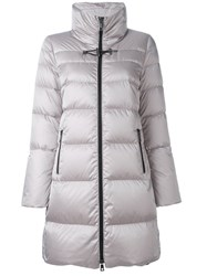 Fay Stand Collar Padded Coat Grey