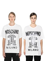 Moschino Tools Printed Cotton Jersey T Shirt