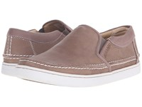 Sebago Ryde Slip On Dark Taupe Leather Men's Slip On Shoes