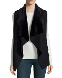 Neiman Marcus Double Sided Sherpa Fur Vest