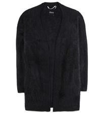 81 Hours Carola Open Front Cashmere Cardigan Black
