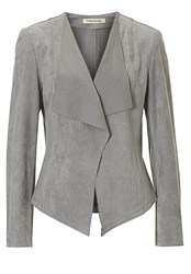 Betty Barclay Faux Suede Jacket Grey