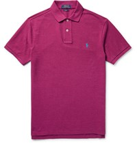 Polo Ralph Lauren Lim Fit Cotton Pique Hirt Plum