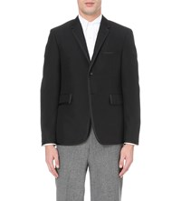 Thom Browne Lined Mohair Blend Tux Jacket Black