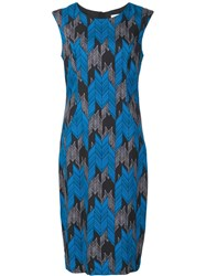 Milly Jacquard Fitted Dress Black