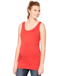 Motherhood Maternity Ruched Tank Top Red