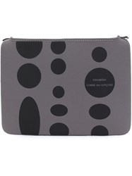 Comme Des Garcons Wallet Polka Dot Laptop Pouch Grey