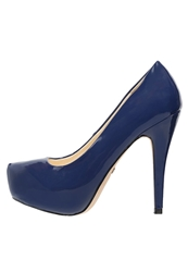 Buffalo Platform Heels Navy Dark Blue