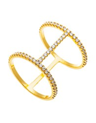 Lord And Taylor Goldtone Cubic Zirconia Tiered Ring