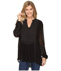 Tolani Ramina Embroidered Tunic Night Women's Clothing Black