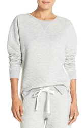 Women's Daniel Buchler Quilted Cotton Sweatshirt