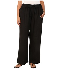 Allen Allen Plus Size Beach Pants Black Women's Dress Pants