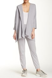 Central Park West The Stone Open Kaftan Hoodie Metallic