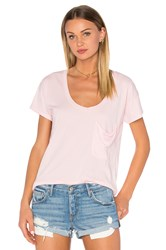 Bobi Pima Cotton Pocket Tee Pink