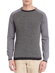 Salvatore Ferragamo Woolen Baseball Sweater Grey