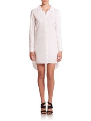 Alexis Lieve Hi Lo Shirtdress White