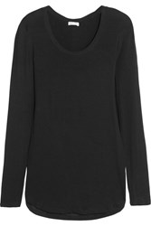 Splendid Drapey Lux Stretch Jersey Top Black