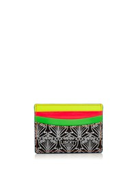 Iphis Printed Canvas Credit Card Holder Neon Women's Liberty London