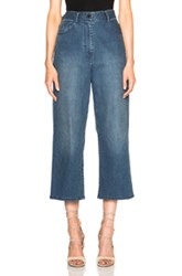 Tibi High Waist Cropped In Blue