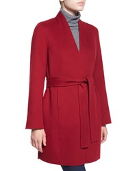 Neiman Marcus Cashmere Collection Double Face Woven Cashmere Coat Women's