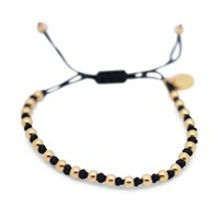 Gideon John Jewellery Yellow Gold Lux Black Knot
