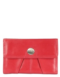 Kenneth Cole Reaction Button Up Leather Indexer Wallet Berry