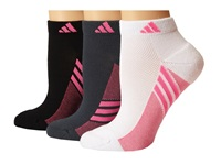 Adidas Climacool Superlite 3 Pair Low Cut Sock White Solar Pink Black Solar Pink Bold Onix Solar Pink Women's Low Cut Socks Shoes Multi
