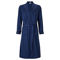 Derek Rose For John Lewis Silk Robe Navy
