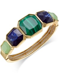 Charter Club Gold Tone Large Stone Stretch Bangle Bracelet Only At Macy's