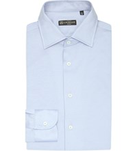 Corneliani Slim Fit Cotton Jersey Shirt Lt Blue
