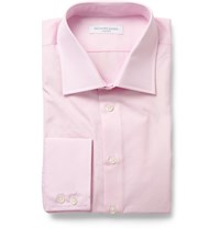 Richard James Cotton Poplin Shirt Pink