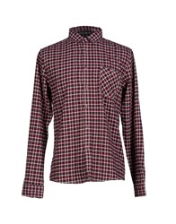 Solid Shirts Shirts Men Garnet