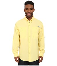 Columbia Tamiami Ii L S Sunlit Men's Long Sleeve Button Up Yellow