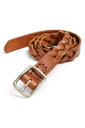 Billykirk Leather Braided Belt Brown