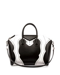 Givenchy Antigona Brogue Satchel Bag Black White Men's