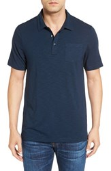 Travis Mathew Men's 'Logan' Cotton Blend Polo Shirt Dress Blue
