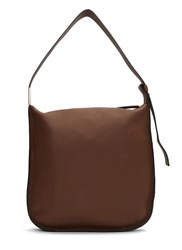Marni Midtown Grained Leather Shoulder Bag Brown