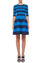 Akris Punto Women's Stripe Milano Knit Fit And Flare Dress