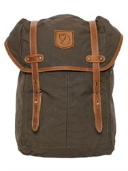 Fjall Raven Medium No. 21 Canvas And Leather Backpack